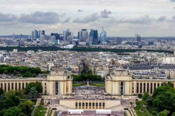 View of Paris from Tier 1 of the Eiffel Tower