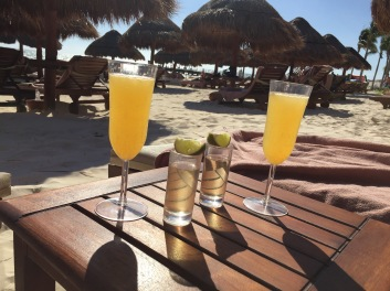 Mimosas and tequila shots!